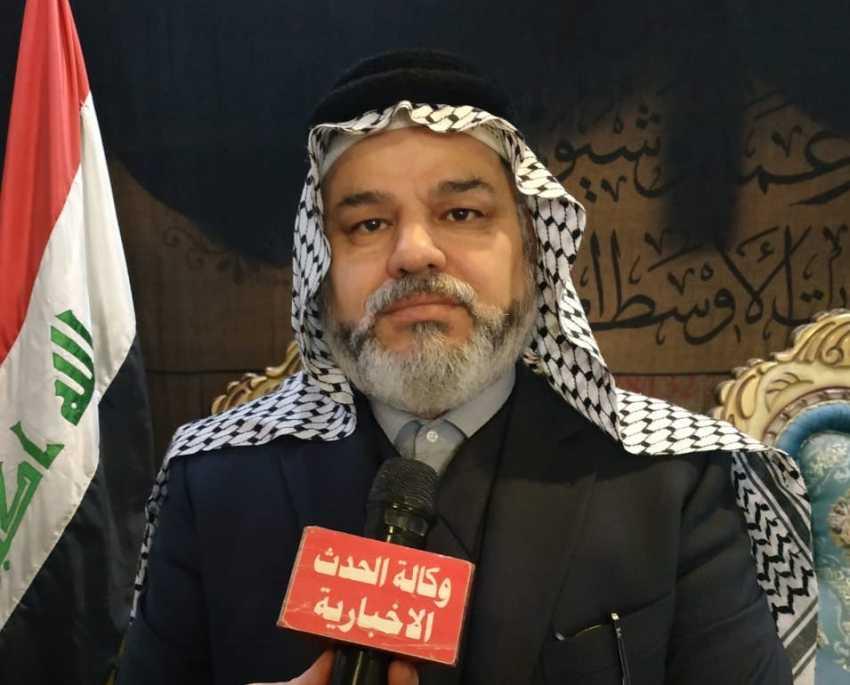 رئيس مجلس زعماء وشيوخ الفرات الاوسط يستنكر الاعتداءات على الشعب الفلسطيني