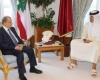 أمير قطر يبعث برسالة خطية للرئيس اللبناني