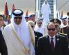 السيسي يدعو أمير قطر لزيارة مصر