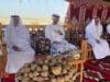 """رئيس دولة الإمارات وشيوخها في جولة لغابة محمية """"غناظة"""""""